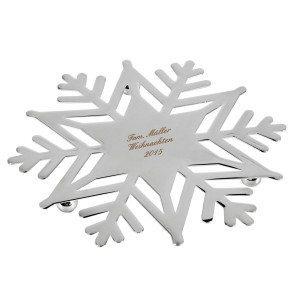 Snefnugformet bordskåner med indgravering