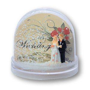 Snekugle-fotoramme med brudepar