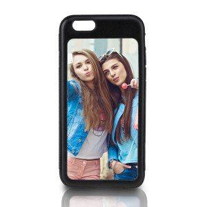 Sort iPhone 6-cover med billede