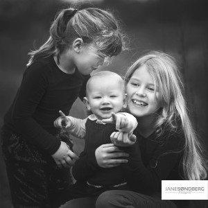 Søskende fotografering - i studio - Hammel