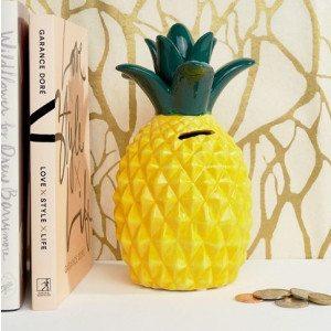 Sparebøsse formet som en ananas