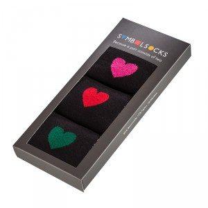 Strømper med hjertemotiv