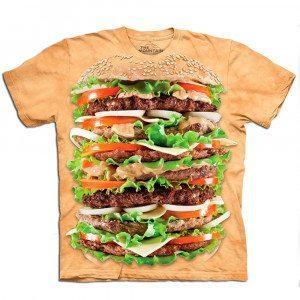 T-shirt med burgermotiv