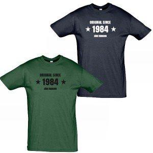 T-shirt til mænd med navn i army-stil