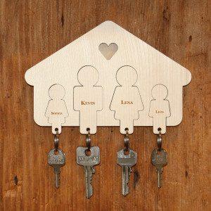 Trautes Heim – Familien-Schlüsselbrett