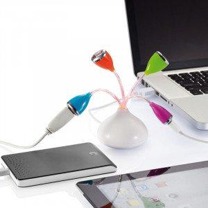 USB-hub formet som en blomsterbuket