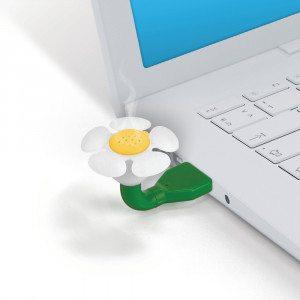 USB-luftfrisker formet som en blomst