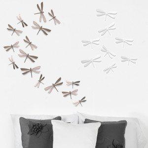 Vægdekoration med guldsmede