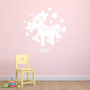 PERSONALIZED UNICORN WALL-ART