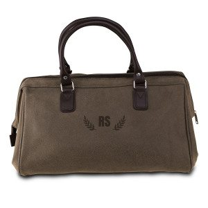 PERSONALIZED VINTAGE DOCTOR BAG WITH INITIALS