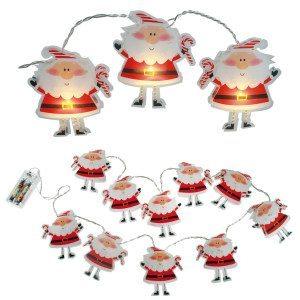 Weihnachtsmann-Lichterkette
