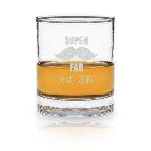 Whiskyglas 'Den bedste far' med indgravering