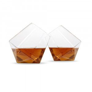 Whiskyglas med diamantform