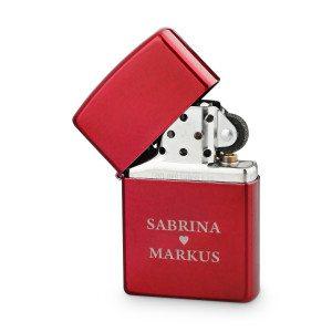 Zippo lighter i romantisk design med indgravering