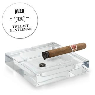 XXL-askebæger af krystalglas med indgravering